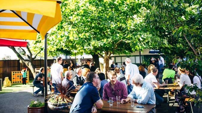 Beer Garden Courtyard at The Notting Hill Hotel