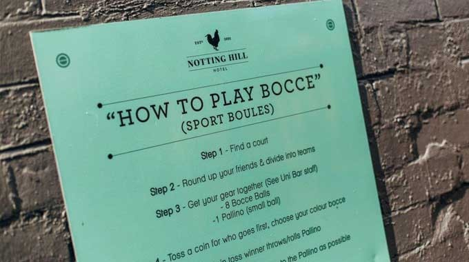 Activities to do at The Notting Hill Hotel