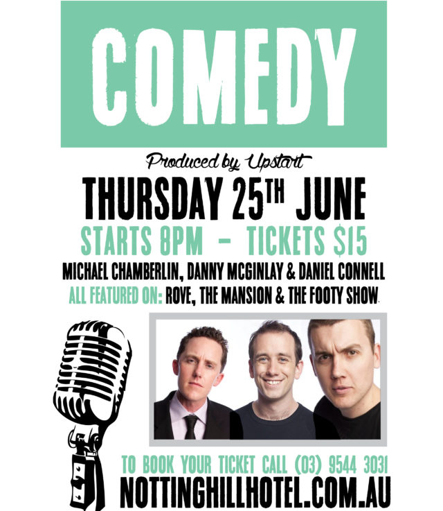live stand up comedy at the nott