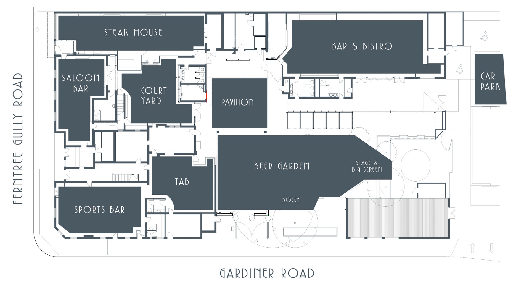 Notting Hill Hotel Functions Room Hire Map