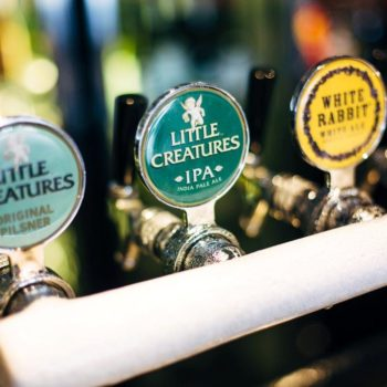 Little Creatures and White Rabbit Craft beer taps at The Notting HIll Hotel